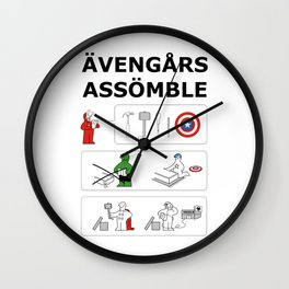 Superheroes Assembling - Colour Wall Clock