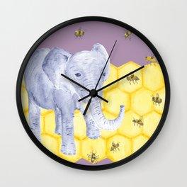 Elephant & Bees Wall Clock