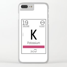 Potassium - chemical Clear iPhone Case