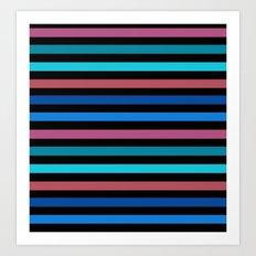Horizontal strip of 5 Art Print