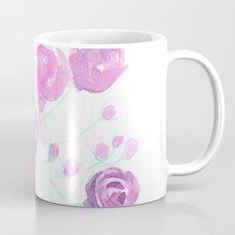 violet watercolor roses Coffee Mug