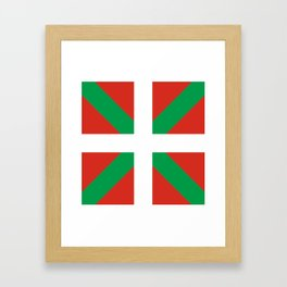 Basque Country: Euskaldun Flag Framed Art Print