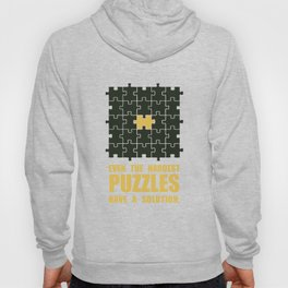Lab No. 4 -Even The Hardest Puzzles Have A Solution Corporate Start-Up Quotes Hoody