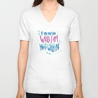 karen V-neck T-shirts featuring KAREN GEWALT LAFAYETTE by Josh LaFayette