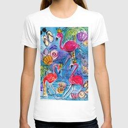 Flip Flops and Flamingos T-shirt