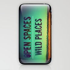 Open Spaces Wild Places iPhone & iPod Skin