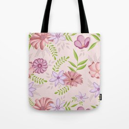 Spring flowers with vibrant greenery Tote Bag