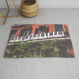 New Orleans French Quarter Piano Nola Home in Louisiana Rug