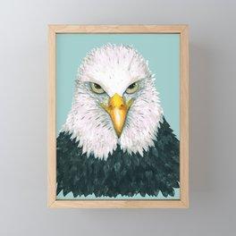 Bald eagle portrait Framed Mini Art Print