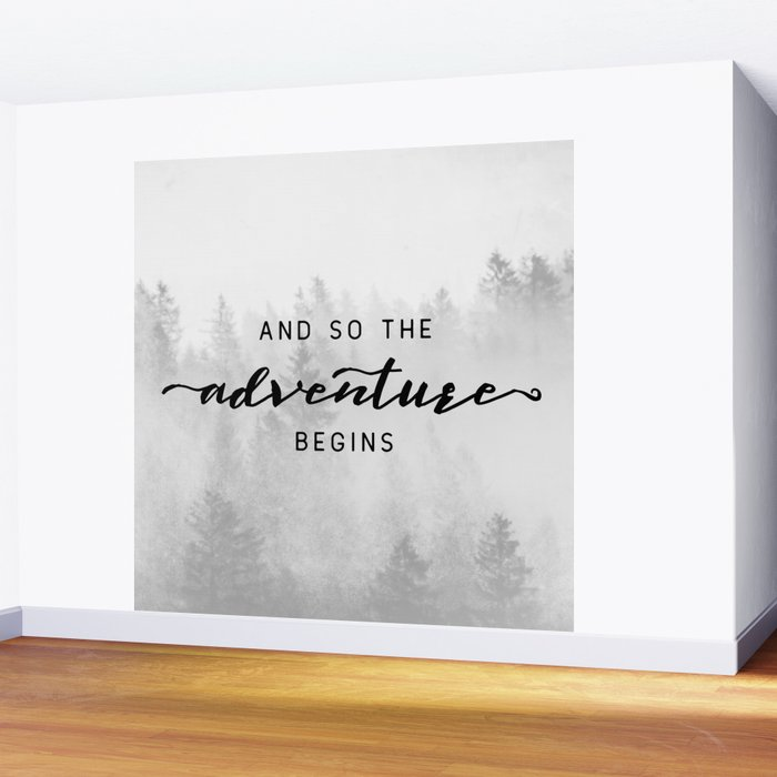 And So The Adventure Begins Wall Mural