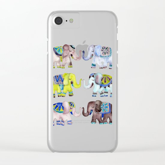 Elephant Collection – Cool Palette Clear iPhone Case