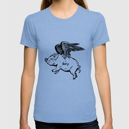 Women_s FlyingPig Gifts Funny Novelty Gift For Her Him Womens Graphic Tees Mens Kids Pig T-shirt
