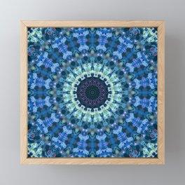 Winter Blue Mandala Framed Mini Art Print