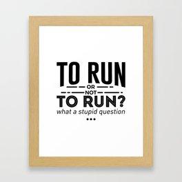 Runners Run Running Is Life Design Framed Art Print