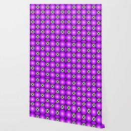 Neon Purple Pattern Wallpaper