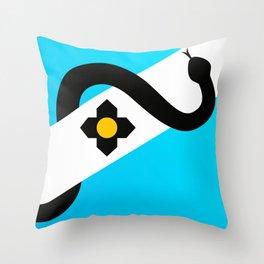 Madison Wisconsin Snake Flag Throw Pillow