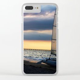 Sailing Into the Blue Clear iPhone Case