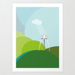 Tripods Art Print
