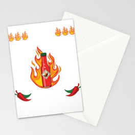 I Pit Hot Sauce On My Hot Sauce T-shirt Design Spicy Tomato Ketchup Jalapeno Pepper Burger Pizza Stationery Cards