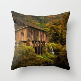 Baroque Cedar Grist Mill Throw Pillow