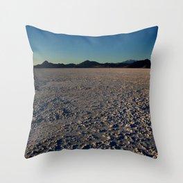Bonneville Salt Flats - Utah Throw Pillow