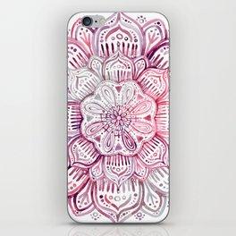 Burgundy Blush Watercolor Mandala iPhone Skin