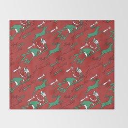 Santa Express Throw Blanket