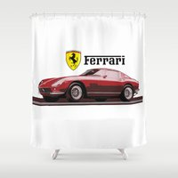 ferrari Shower Curtains featuring Ferrari 275  by kartalpaf