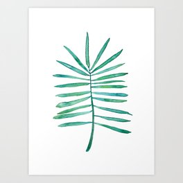 Long Palm frond Art Print