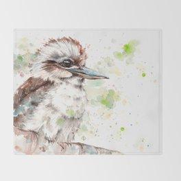 A Kookaburras Gaze Throw Blanket