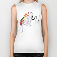 okami Biker Tanks featuring VIDEO GIRLS: Okami by Marques Cannon