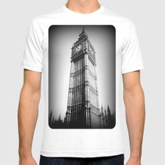 Ben looms in black and white, too. MEDIUM White Mens Fitted Tee