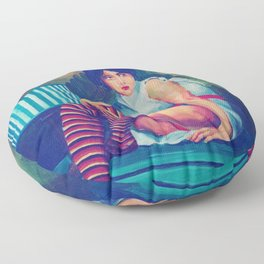 UNKNOWN GIRL Floor Pillow