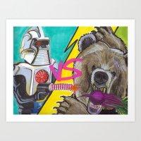 battlestar galactica Art Prints featuring Bears Beets Battlestar Galactica by monsterlash