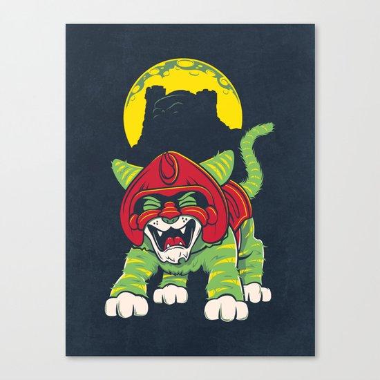 Battle Kitty's Mighty RAWR!  Canvas Print