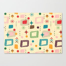 Atomic pattern Canvas Print