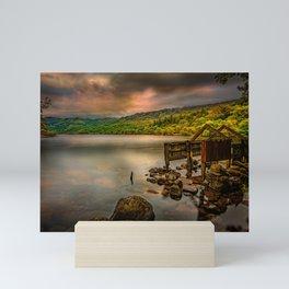 Gwynant Lake Old Boat House Mini Art Print