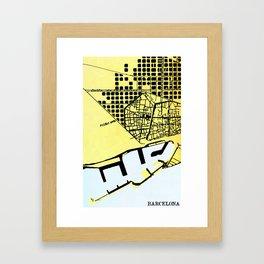 BARCELONA (MAPSTAT SERIES) Framed Art Print
