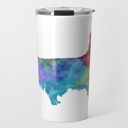 Shetland Seepdog in watercolor Travel Mug