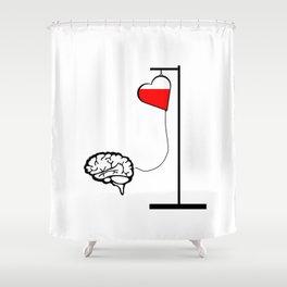 Brain and heart Shower Curtain