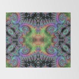 Psychedelic Fractal Kaleidoscope Throw Blanket