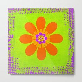 Hippie Flower Metal Print