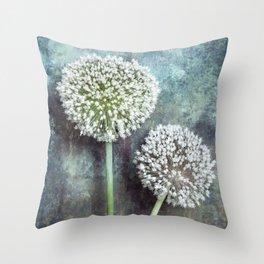 Allium Flowers Throw Pillow