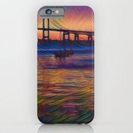 Newport Bridge - Newport, Rhode Island Summer Sunset iPhone Case