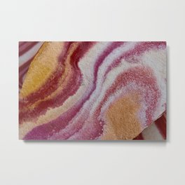 Desert Stone Swirls 2 Metal Print