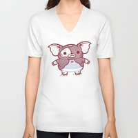 gizmo V-neck T-shirts featuring Cheeseburger Gizmo by Philip Tseng