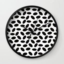 Black Jellybeans Wall Clock