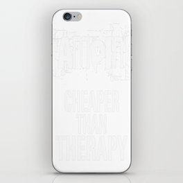 Camping, Cheaper Than Therapy iPhone Skin