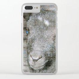 Lambkin - Cute black lamb Clear iPhone Case