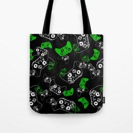Video Game Black & Green Tote Bag